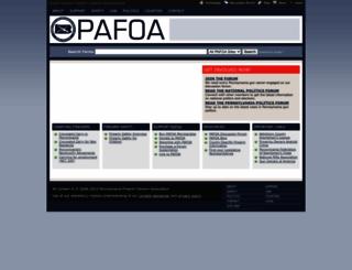 pafoa.org screenshot