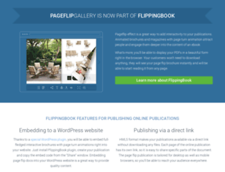 pageflipgallery.com screenshot