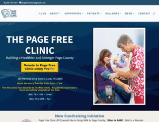 pagefreeclinic.org screenshot
