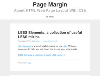 pagemargin.com screenshot