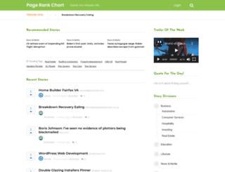 pagerankchart.com screenshot