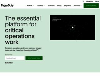 pagerduty.com screenshot