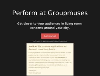 pages.groupmuse.com screenshot