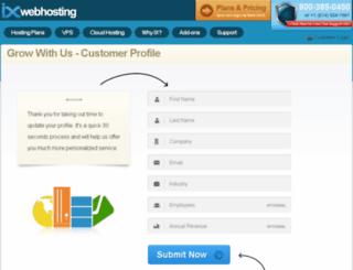 pages.ixwebhosting.com screenshot