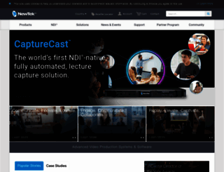 pages.newtek.com screenshot