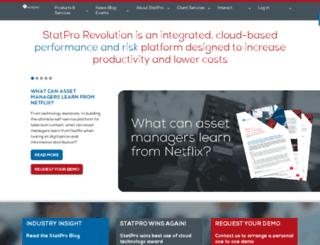 pages.statpro.com screenshot