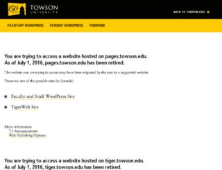 pages.towson.edu screenshot