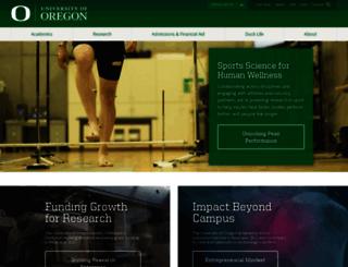 pages.uoregon.edu screenshot