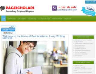 pagescholars.com screenshot