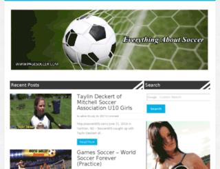 pagesoccer.com screenshot