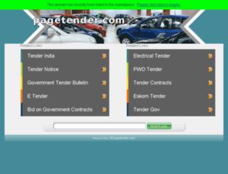 pagetender.com screenshot