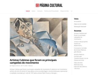 paginacultural.com.br screenshot