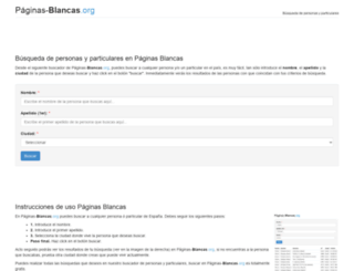 paginas-blancas.org screenshot