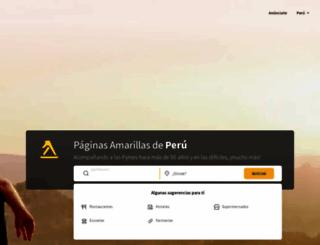 paginasamarillas.com.pe screenshot