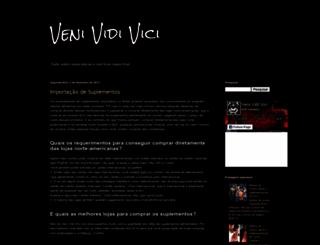 paginavenividivici.blogspot.com.br screenshot