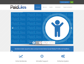 paidlikes.de screenshot
