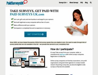 paidsurveysuk.com screenshot