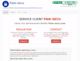 paie-secu.com screenshot