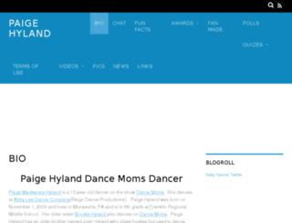 paigehyland.com screenshot
