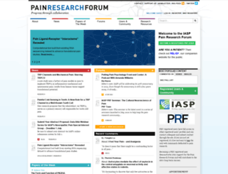 painresearchforum.org screenshot