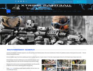 paintballguns.co.za screenshot