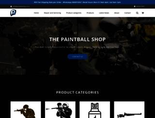 paintballshop.co.za screenshot