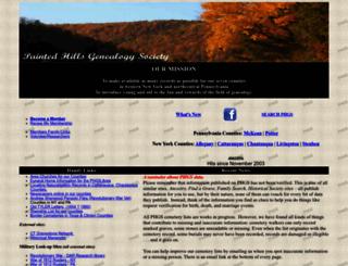 paintedhills.org screenshot