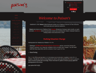 paisansrestaurant.biz screenshot