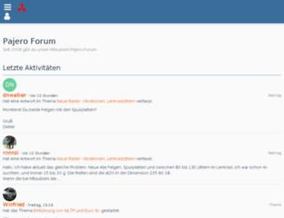 pajero-forum.de screenshot
