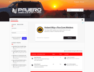 pajeroclub.co.za screenshot