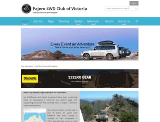 pajeroclub.com.au screenshot