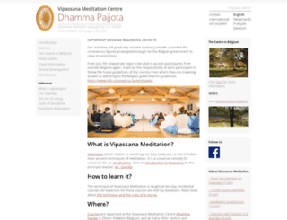 pajjota.dhamma.org screenshot