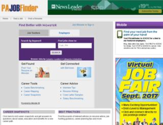 pajobfinder.com screenshot