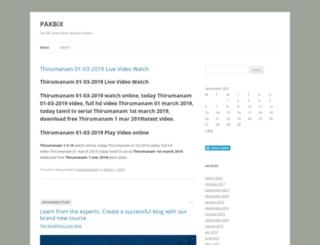 pakbix.wordpress.com screenshot