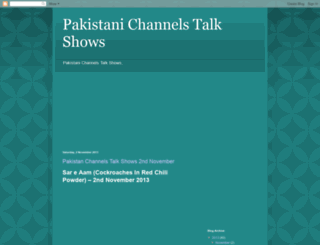 pakchannelstalkshowz.blogspot.com screenshot