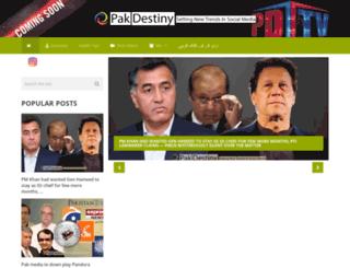 pakdestiny.com screenshot