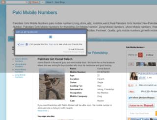 pakimobilenumbers.com screenshot