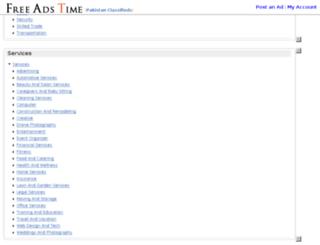 pakistan.freeadstime.org screenshot