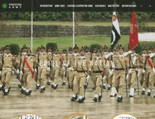 pakistanarmy.gov.pk screenshot