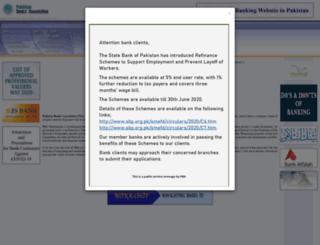 pakistanbanks.org screenshot