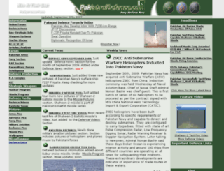 pakistanidefence.com screenshot