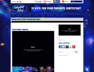 pakistanidol.com screenshot