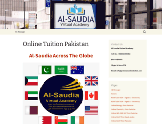 pakistanonlinetuition.com screenshot