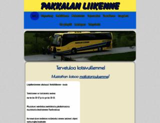 pakkalanliikenne.com screenshot