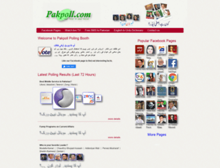 pakpoll.com screenshot