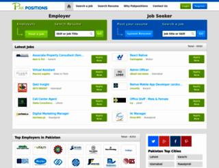 pakpositions.com screenshot