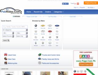 pakrides.com screenshot