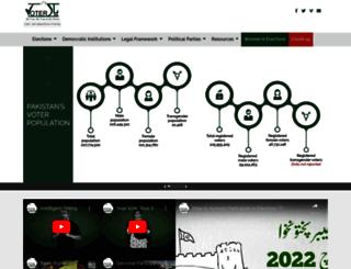 pakvoter.org screenshot