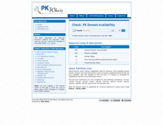 pakwhois.com screenshot