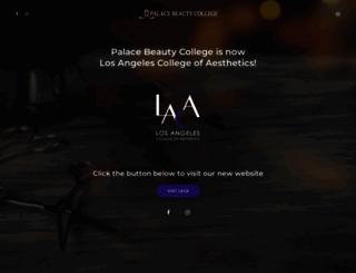 palacebeautycollege.com screenshot